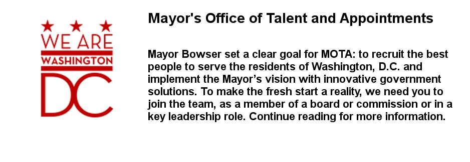 Mayor's Office of Talent and Appointments